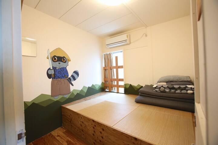Samurai (Tatami Double room) - Yadoya Green