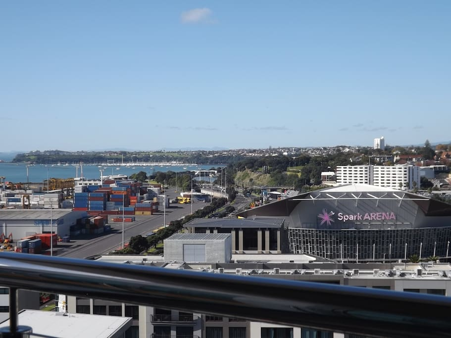 Lookout of Spark Arena ( Old Victor Arena) from our balcony. by walk about 2 mins away.
