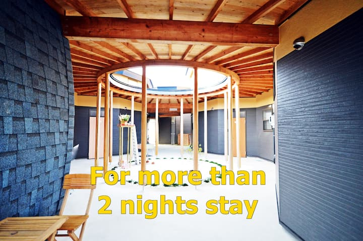 for 2 nights stay, Mordern Zen temple、Free Shuttle