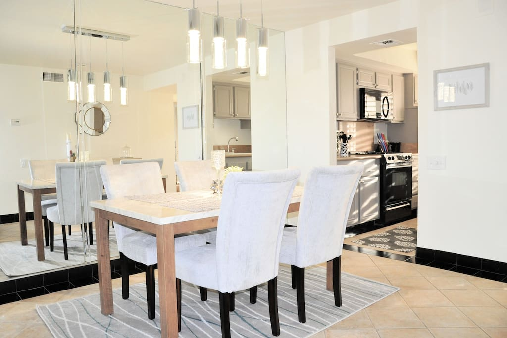 Formal dining area perfect for enjoying a special meal