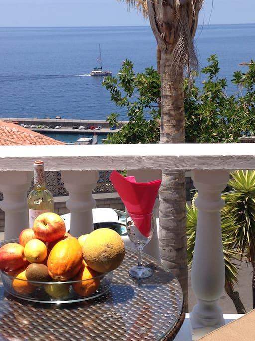 Terrace with fantastic sea views.