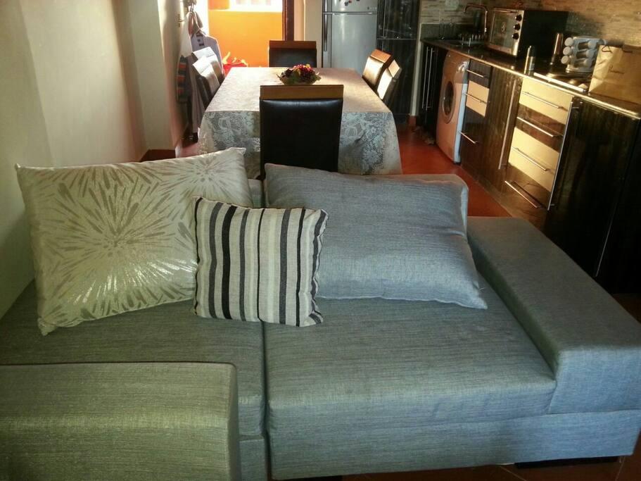 Sofa in reception