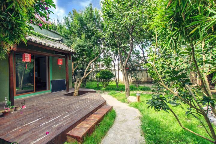 Exclusive garden-view twin room - ROUFU