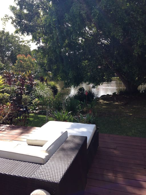 This is our backyard. Peaceful retreat with cuppa and a book. Or just sit and watch the wild life