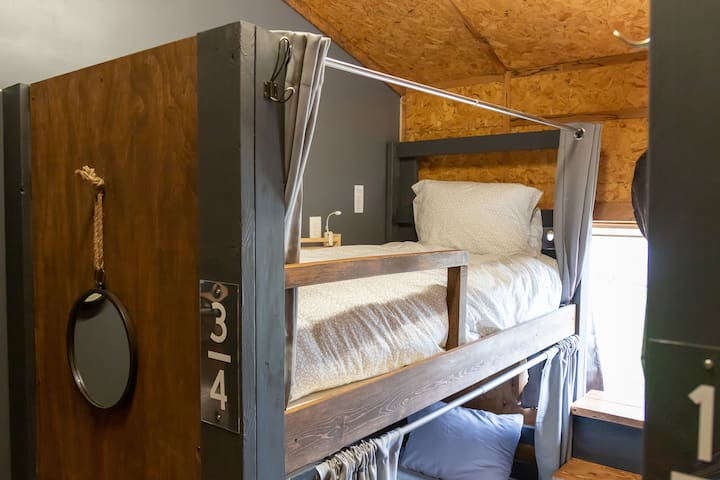 Basecamp Hostel Lower Bunk-6 w/ kitchen & showers
