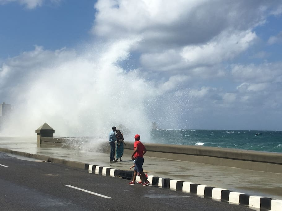just a short stroll of 5 minutes to the Malecon. Lovely for both grown-ups and kids.