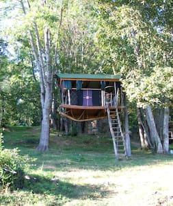 Les cabanes de l'Espinal - Saurat - บ้านต้นไม้