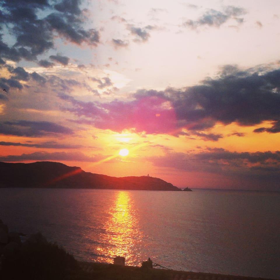 coucher de soleil du Ronco
