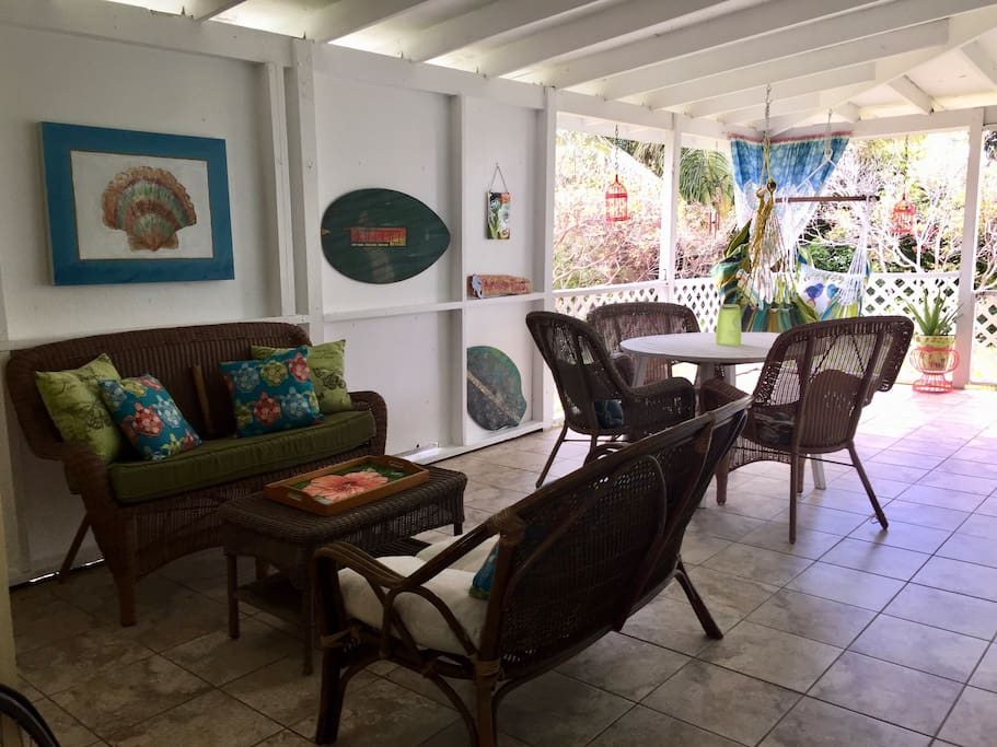 Your private covered patio