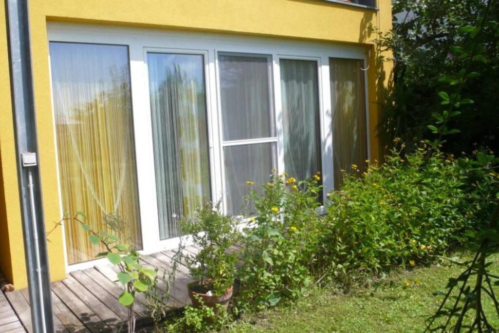 Gartenansicht Wohnung