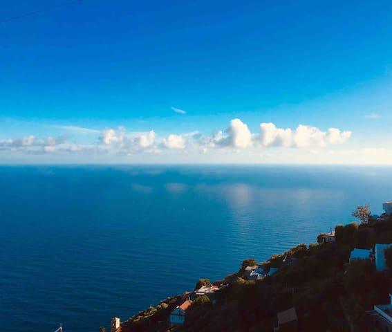 Apartment sea view in Furore