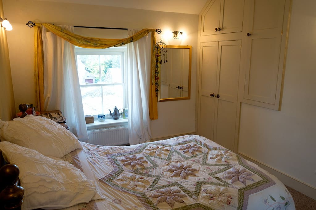 Double bedroom with views towards Robin Hood's Stride and Cliff Lane