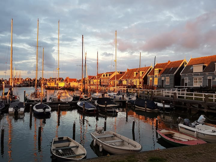 Near Amsterdam at the little harbour of Marken.