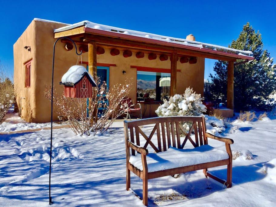 The casita in winter.