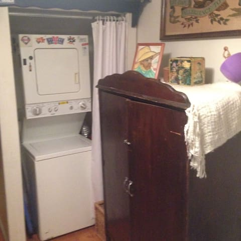 Washer/Dryer unit ready for use.