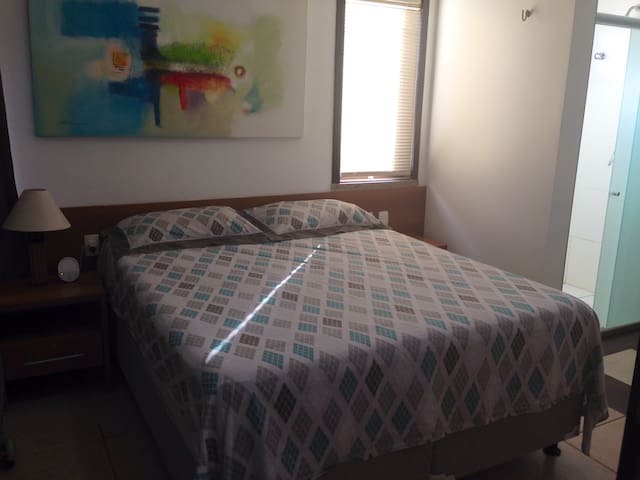 Bedroom Suite 1 with 5 star Queen Bed and Private Bathroom