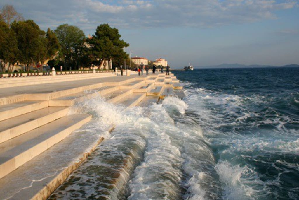 Sea Organ - one of a kind, 5 min stroll from Victoria Apartments will results in beautiful view of islands and music created by the waves splashing the stairs.