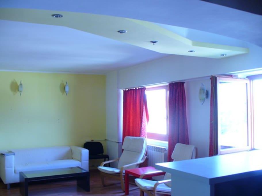 open-plan lounge area