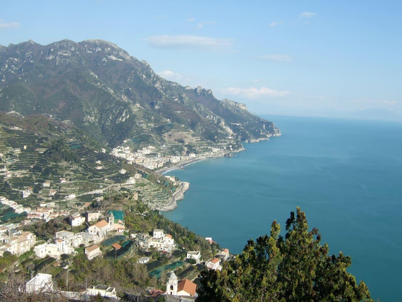 View of Coastline from Ravello