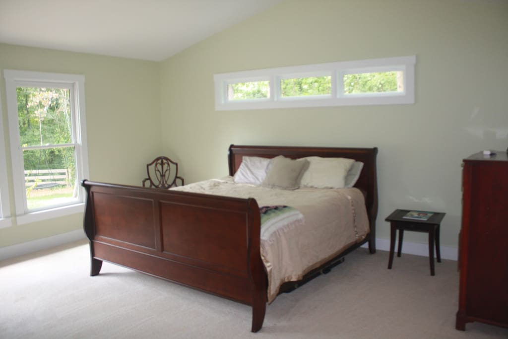 Master Suite is very bright and inviting.