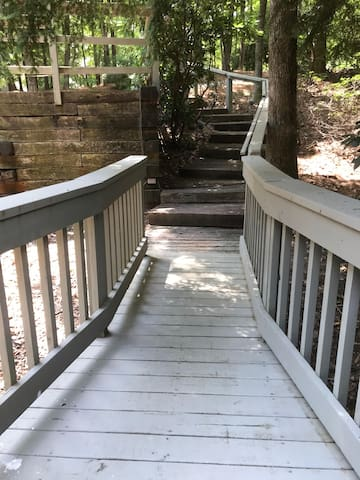 Steps front view