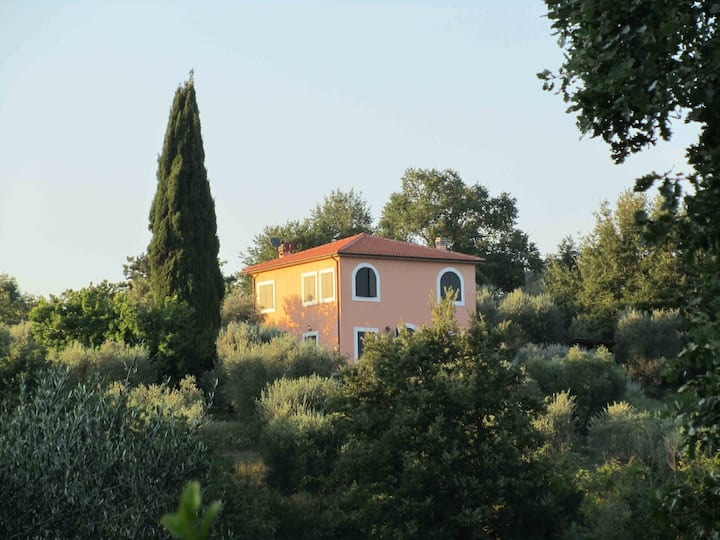 Gaia House, villa on Tuscan hills.