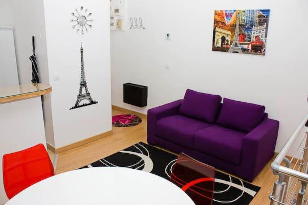 appartement design 10 mn montmartre appartements louer paris ile de france france. Black Bedroom Furniture Sets. Home Design Ideas