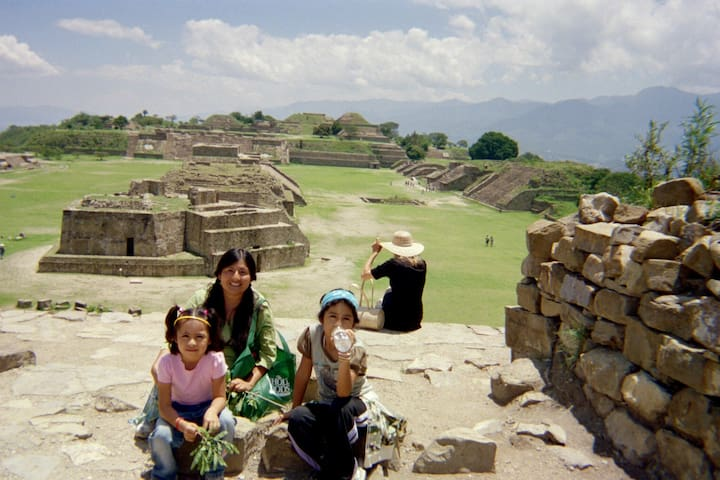 Monte Albán is a large pre-Columbian archaeological site.