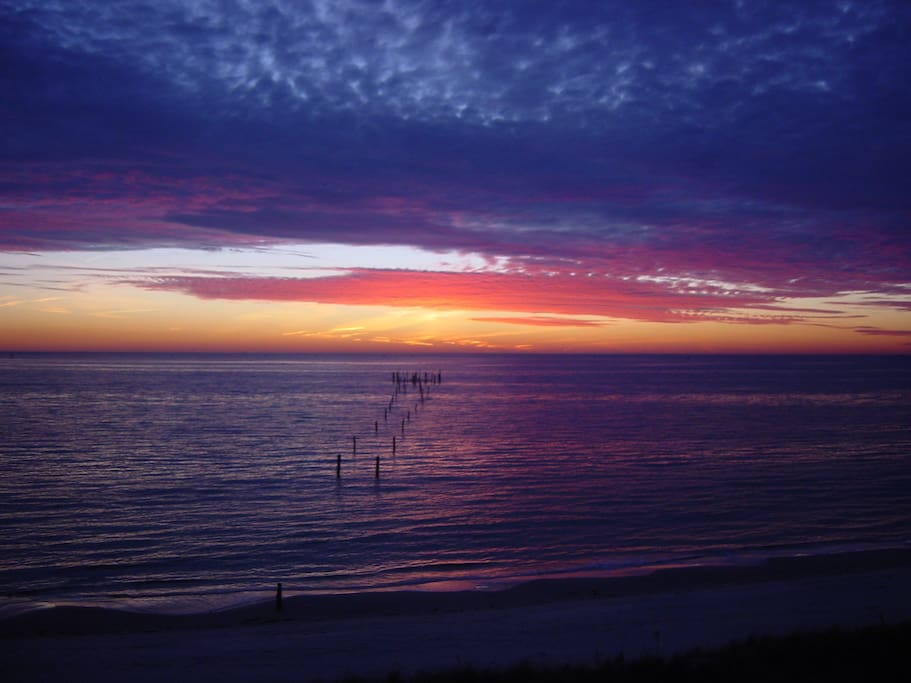 Tremendous sunsets are seen right from the beach or the deck.