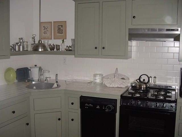 Remodeled kitchen with gas range, dishwasher, microwave, stainless cookware, tableware, and prep tools. You'll also find a Keurig brewer!