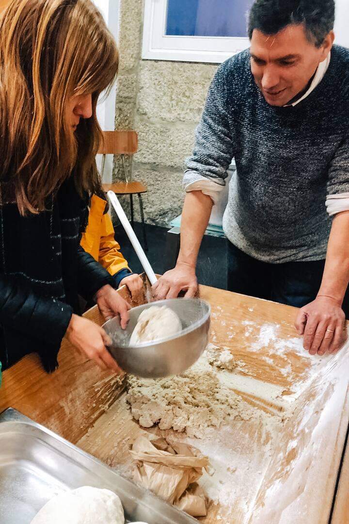 Mistura das farinhas