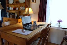 Free internet throughout the cottage. Great for those eho want a space to study, research or write that book!
