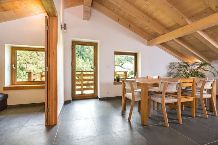 Verbier Valley ski & bike lodge, sleeps 8