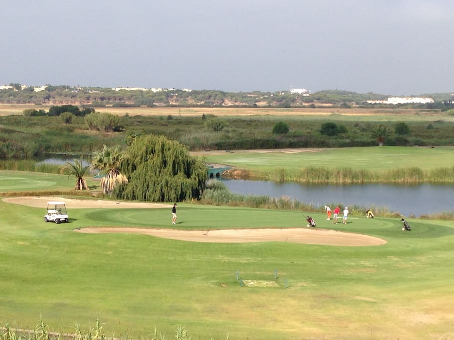 View from the balcony of the rooms on the green Laguna Course