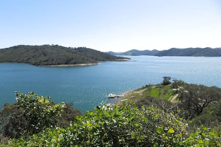 Lake of Santa Clara in Portugal