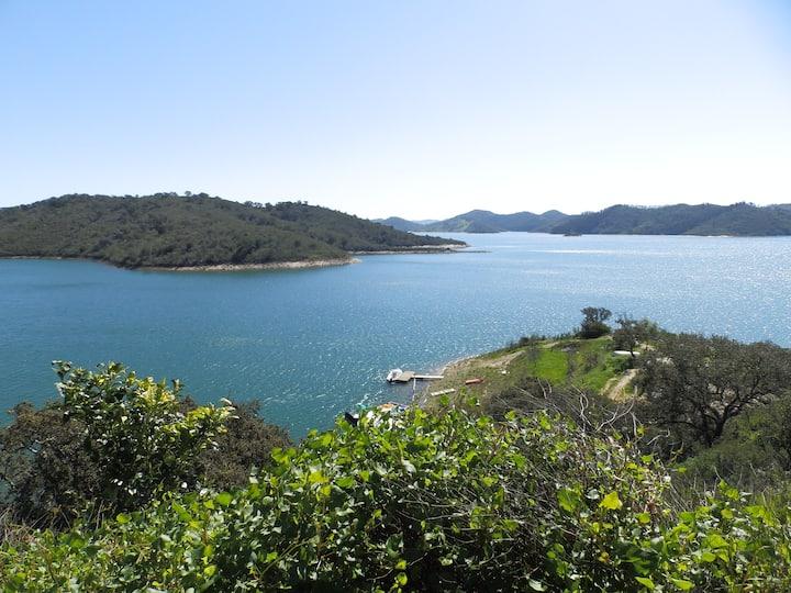Lake of Santa Clara in Portugal