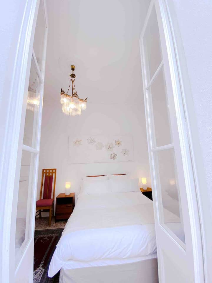 En-Suite with balcony in restored Modernista house