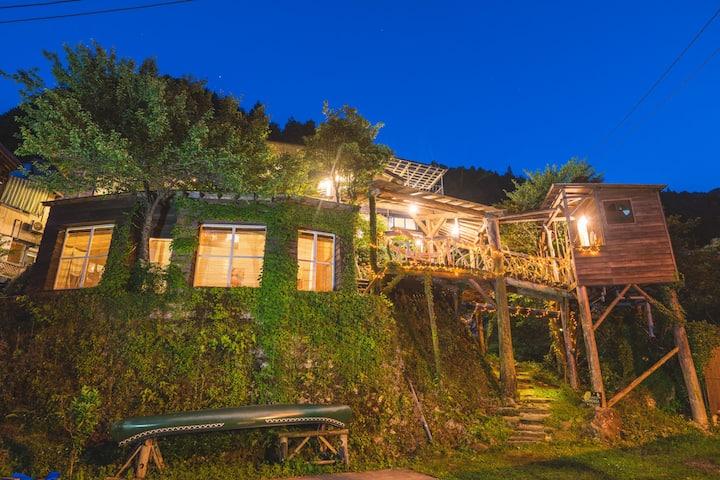 安心,のんびり貸切り滞在 大歩危祖谷観光に便利なゲストハウス 15名様までご利用可能です