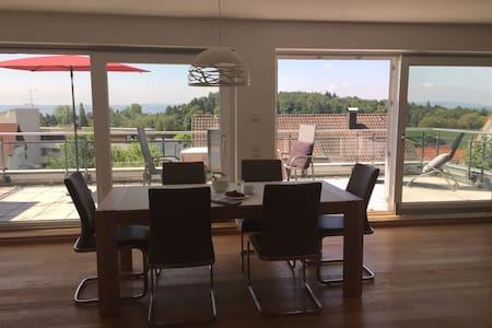 Traumhafte Wohnung mit Alpenblick - Meersburg/Daisendorf - Lakás