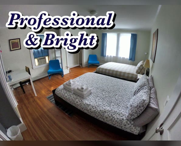 ★Professional & Bright Bedroom at Family Home★