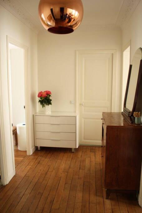 Entrée View when you enter the apartment