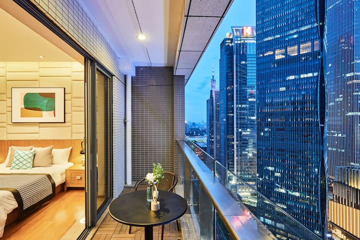 【天空星晴】兴盛路珠江新城80平 高端公寓 W酒店美领馆 IGC K11 高层无敌景观。