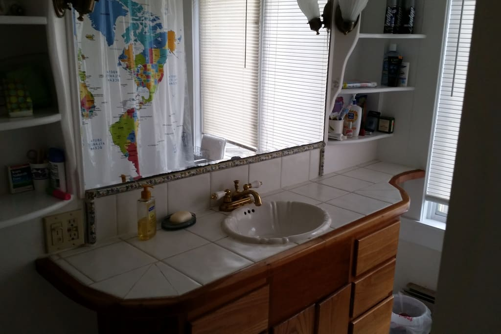 One of our two full bathrooms.
