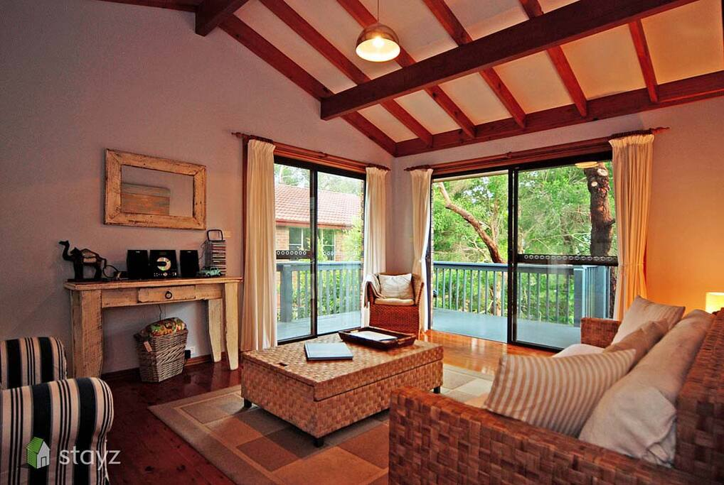 Loungeroom opens onto deck