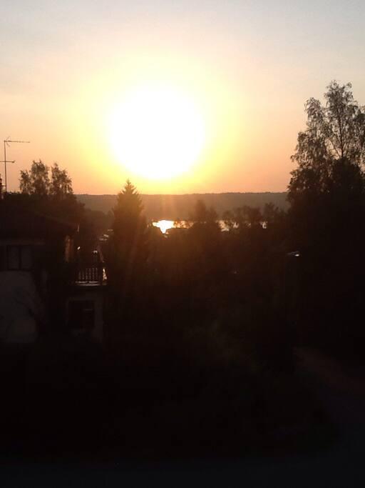 Lake edsviken from the garden