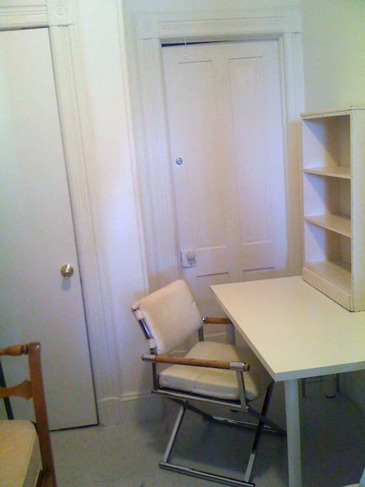 closet and desk in available room...