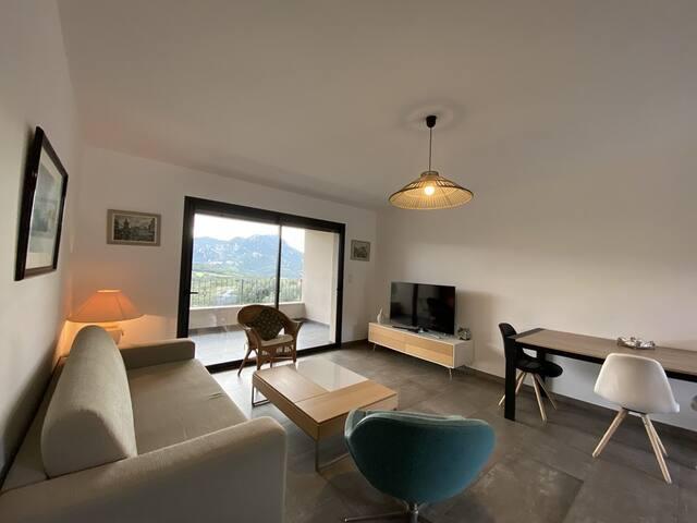 Bel appartement 2 chambres vue montagne