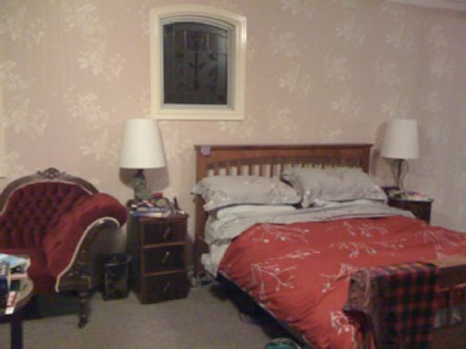 Expansive bedroom with ensuite, only available when owners away
