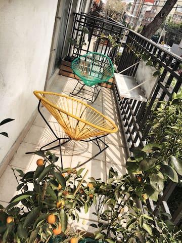 Departamento con cuarto, terraza y baño privado. - Ciudad de México - Flat