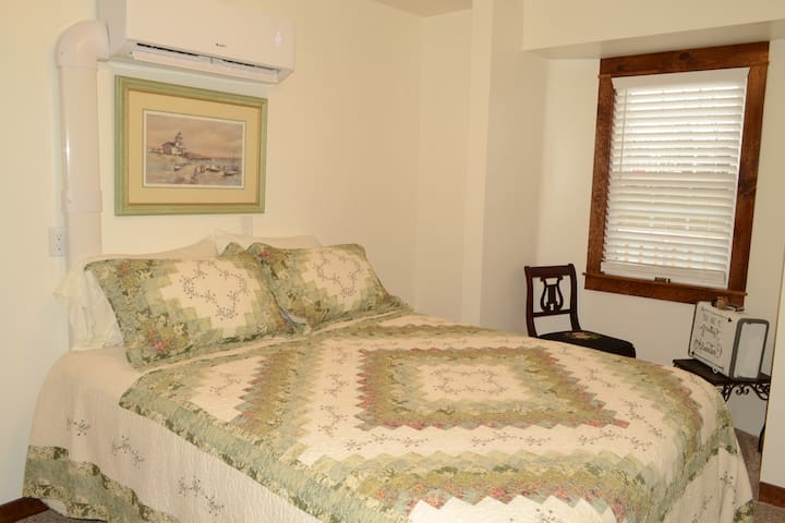 Step back in time and relax...                              This bedroom also has its own thermostat independent of the rest of the cottage.